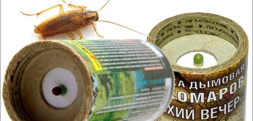 아파트의 바퀴벌레를 죽이기위한 살충제 연기 폭탄